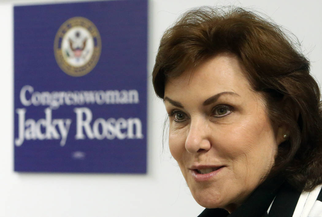 Bizuayehu Tesfaye/Las Vegas Review-Journal Democratic Congresswoman Jacky Rosen is hoping to switch up her seat and cinch the U.S. Senate race in 2018.