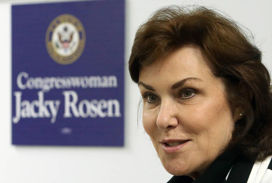 Bizuayehu Tesfaye/Las Vegas Review-Journal Democratic Congresswoman Jacky Rosen is hoping to switch up her seat and cinch the U.S. Senate race in 2018.