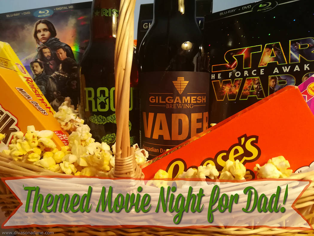 Patti Diamond/Special to the Pahrump Valley Times Planning a themed movie night featuring Dad's favorite movies can be great fun. Create the whole experience, put a basket together filled with m ...