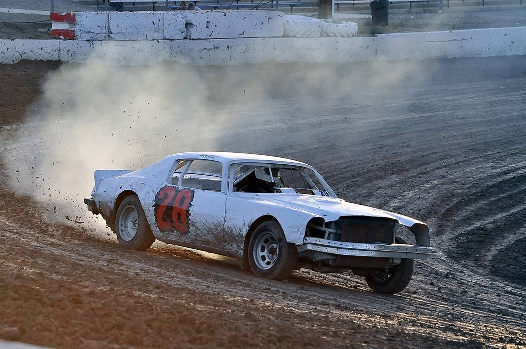 Horace Langford Jr./Pahrump Valley Times Jared Ward extended his lead in the Hobby Stocks class with a victory in his race June 9 at Pahrump Valley Speedway.