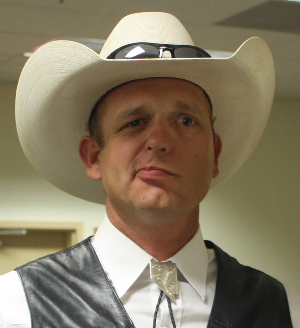 Robin Hebrock/Pahrump Valley Times Gubernatorial candidate Ryan Bundy.