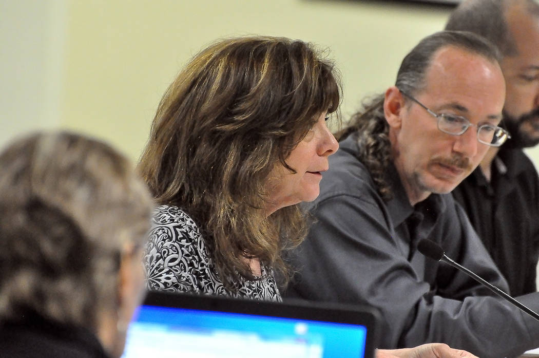 Horace Langford Jr./Pahrump Valley Times Arlette Ledbetter (center), director of tourism for the town of Pahrump, said the town has experienced growth in area tourism. A set of new reports shows g ...