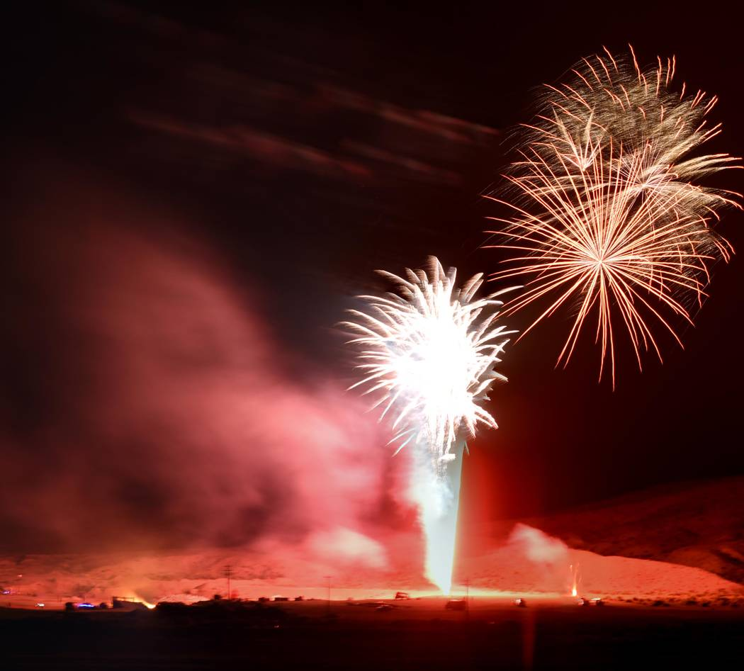 Richard Stephens/Special to the Pahrump Valley Times The Beatty community was treated to a fireworks display over its skies on June 16.