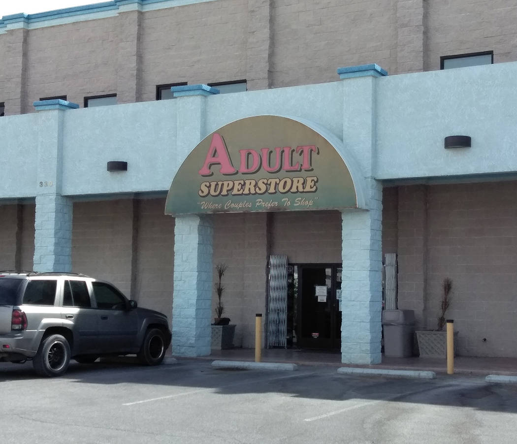 Selwyn Harris/Pahrump Valley Times Adult Superstore, Manager Roberta Anderson, said the business, now in its 14th year, has its share of regular customers, just as any other business in Pahrump, d ...