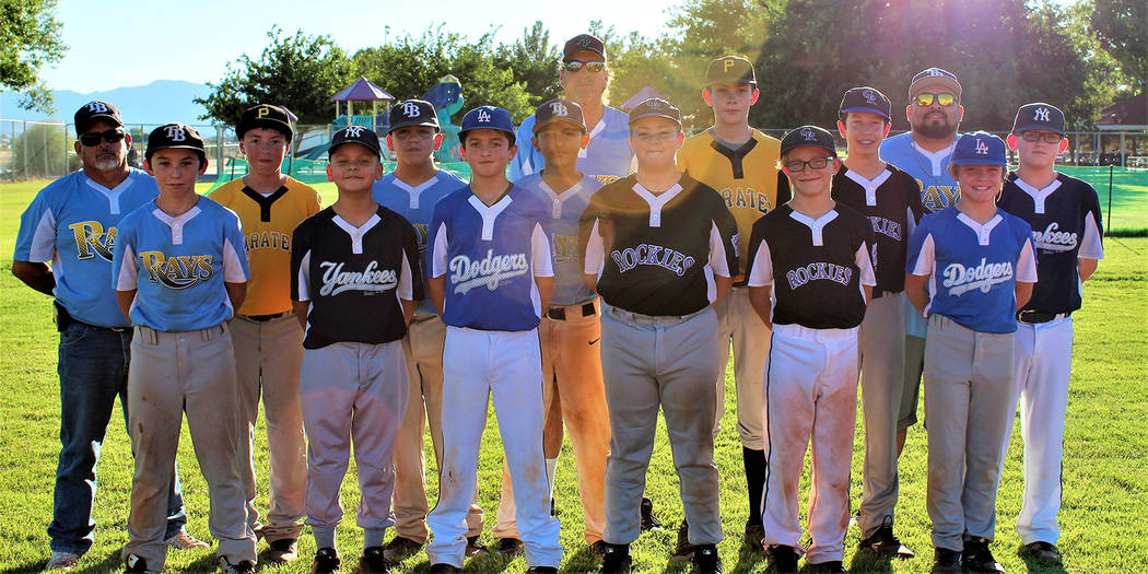 Caroline Thacker/Special to the Pahrump Valley Times The P-Town Little League all-star team poses at Ian Deutch Memorial Park. The 12-year-olds will play in the District 4 Tournament starting July ...