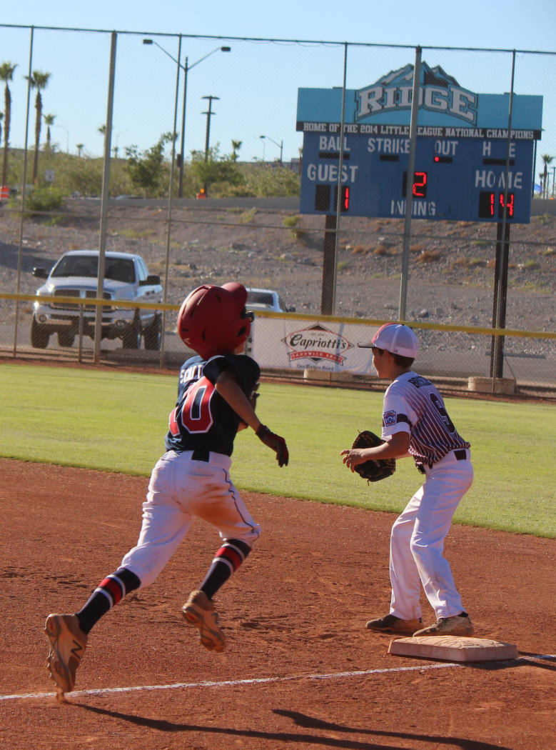 Caroline Thacker/Special to the Pahrump Valley Times Pahrump's 12-year-old Little Leaguers will travel to Mesa Park in Las Vegas to battle nine other teams for the District 4 championship.