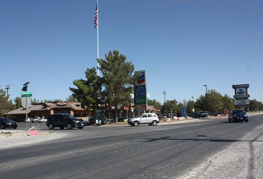 Robin Hebrock/Pahrump Valley Times The highly-traveled intersection of Homestead Road and Thousandaire Boulevard, shown, will soon be the subject of a cone zone. The county recently authorized a r ...