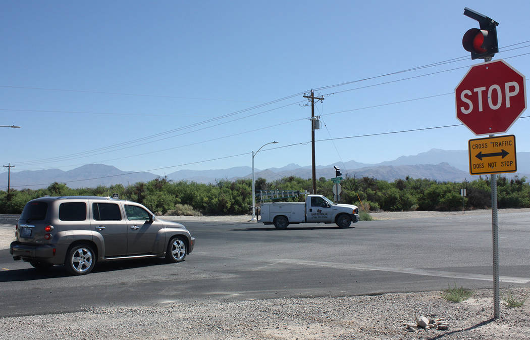 Robin Hebrock/Pahrump Valley Times Another view from the corner of Manse Road and Homestead Road, where coming roadwork will once again effect motorists traveling in the area. Drivers are asked to ...