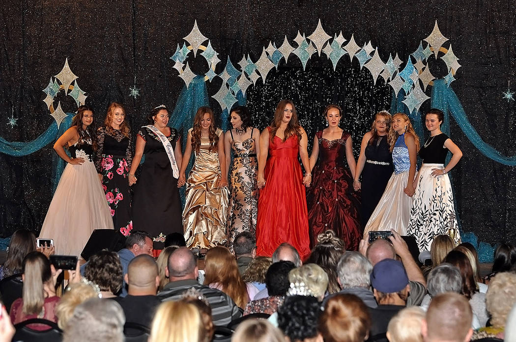 Horace Langford Jr./Pahrump Valley Times The 10 contestants eagerly await the announcement of who takes home the 2018 crown and title of the Miss Pahrump Pageant. Young women entering high school ...