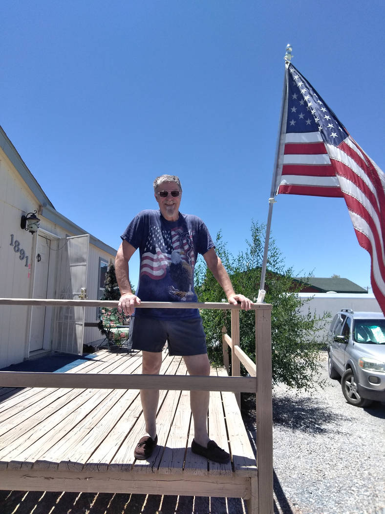 Selwyn Harris/Pahrump Valley Times Bill Gray, a U.S. Air Force veteran who served during the Vietnam era, moved to Pahrump from Boulder City, roughly a year ago. Gray said he chooses to fly the fl ...