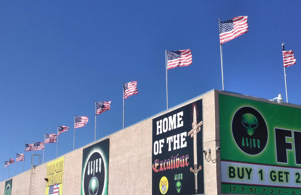 Selwyn Harris/Pahrump Valley Times The rules for handling and displaying the American flag are defined by a law known as the U.S. Flag Code. For example, the flag should never be displayed with th ...