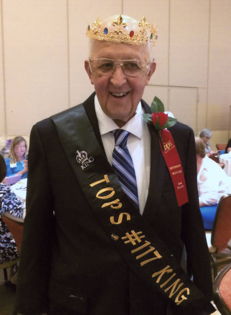 Special to the Pahrump Valley Times Joe Martin, 78, reached his goal weight by losing 42.2 pounds and being named King of Pahrump Chapter #117.