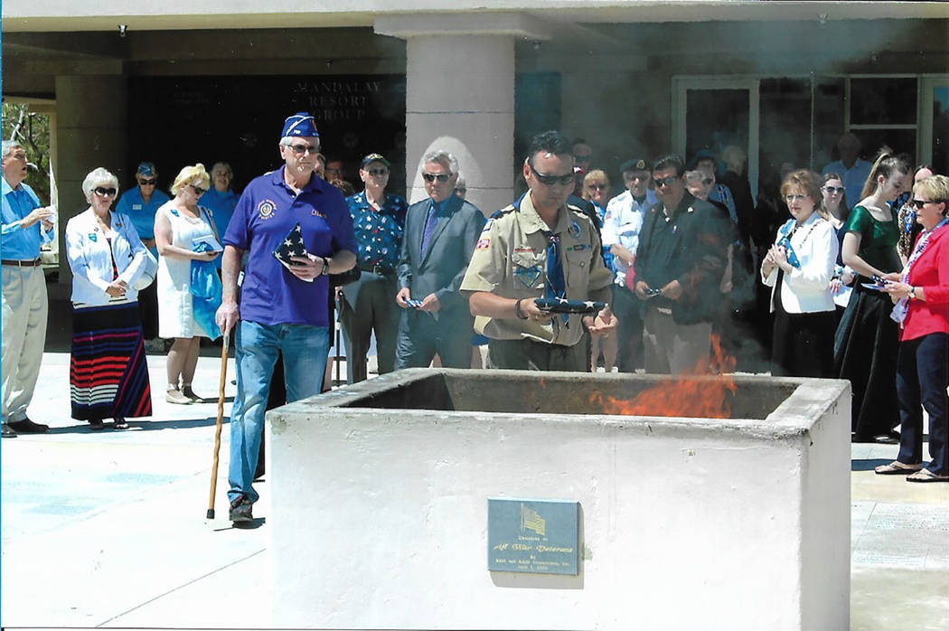 Chuck Baker/Special to the Pahrump Valley Times There were several speakers who presented formal patriotic comments, and others who presented personal statements.