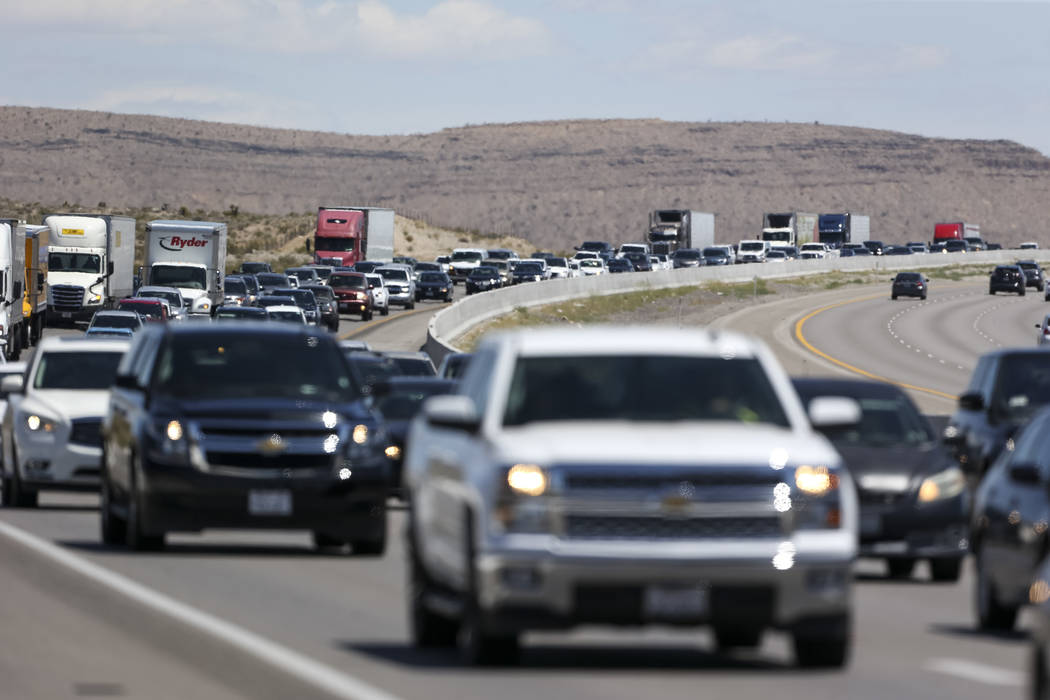 Richard Brian/Las Vegas Review-Journal The vast majority of travelers – 39.7 million – will hit the road this Independence Day, AAA said.