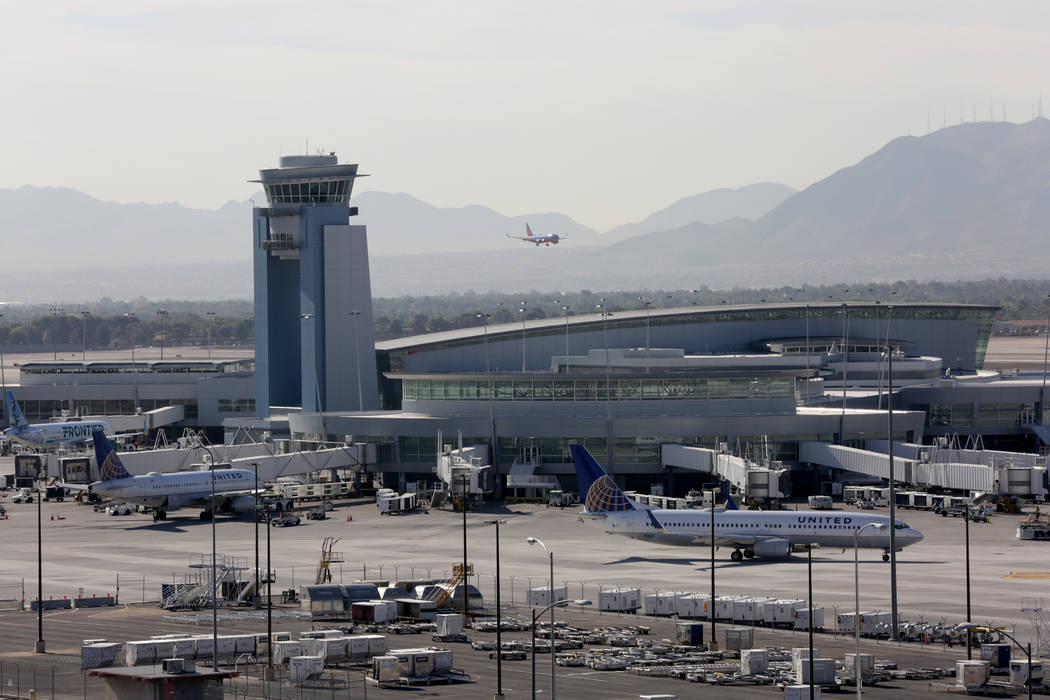 Michael Quine/Las Vegas Review-Journal A record-breaking 3.8 million people will travel by air over the Independence Day holiday, marking the ninth year of consecutive air travel volume increases, ...