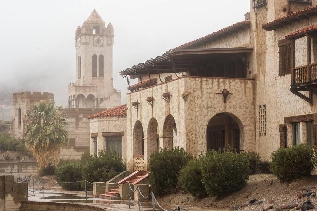 Special to the Pahrump Valley Times Scotty's Castle, a renowned landmark, was damaged by severe flood that occurred on Oct. 18, 2015. The park service has temporarily closed the area to public acc ...