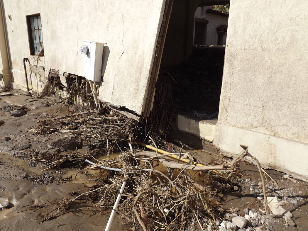 National Park Service A flash flood on October 18, 2015 severely damaged the road, utilities, and historic buildings at Scotty's Castle. The park service has temporarily closed the area to publi ...