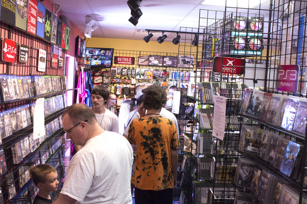 Jeffrey Meehan/Pahrump Valley Times People poured in to a grand opening event at a local video game store on June 23, 2018. Game Corner, which sits at 1190 E. Highway 372, Suite 17, has been insid ...
