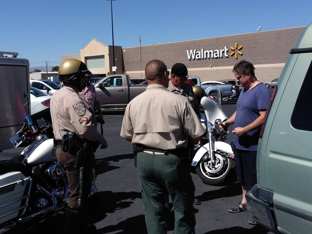 Selwyn Harris Pahrump Valley Times The owner who was eventually located by store security after more than 10 minutes received a stern warning from deputies and Nye County Animal Control Officer Le ...
