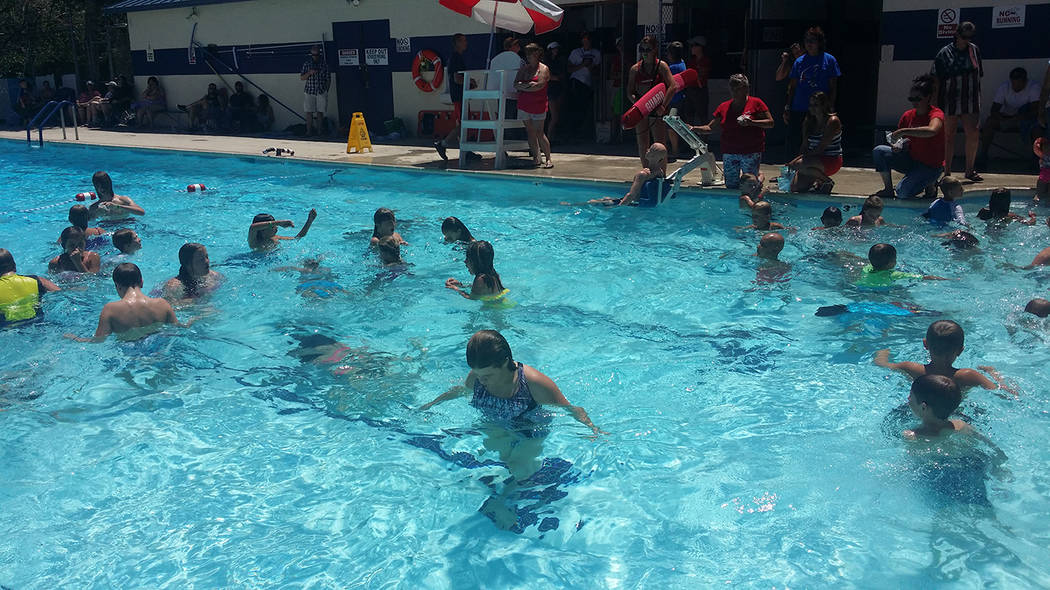 David Jacobs/Pahrump Valley Times The 2018 season for the Tonopah Memorial Swimming Pool is open from noon to 6 p.m., Tuesday through Saturday, with no fees for some activities. At the end of June ...