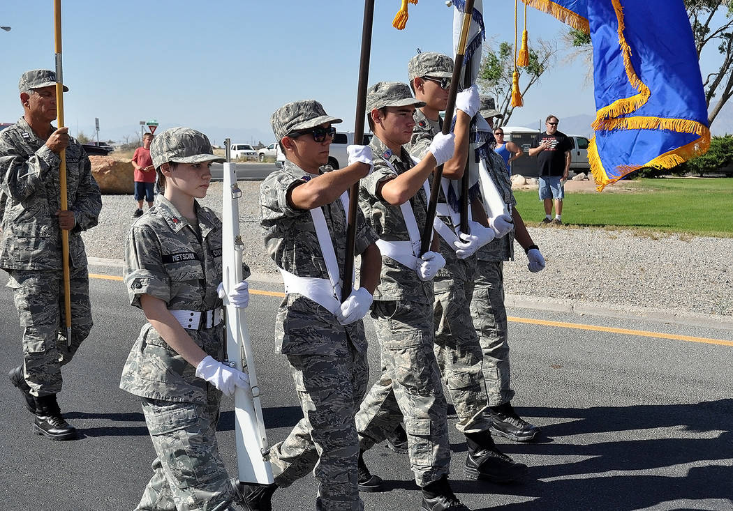 Horace Langford Jr./Pahrump Valley Times - Members of Pahrump's Civil Air Patrol has been a fixture during previous July Fourth Parade celebrations at the Calvada Eye.