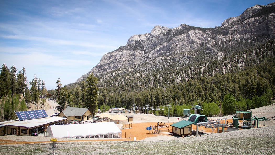 Lee Canyon/Special to the Pahrump Valley Times Lee Canyon Ski & Snowboard Resort's base area spreads out beneath the mountains, offering several recreational activities as well as food and beverag ...