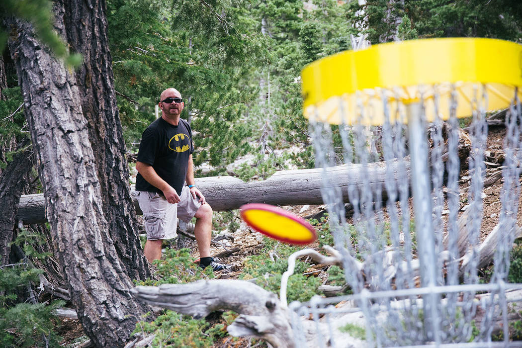 Lee Canyon/Special to the Pahrump Valley Times The disc golf course at Lee Canyon begins near the resort's base, but most of the course takes players several hundred feet downhill through challeng ...