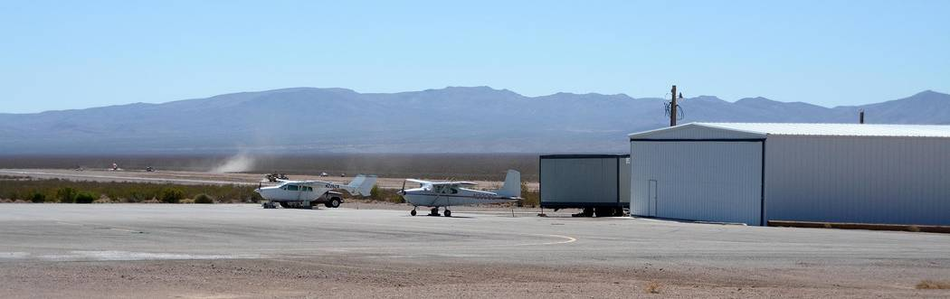 Richard Stephens / Special to the Pahrump Valley Times The Beatty Airport as seen in 2014. The airport is set to see $390,000 in monies under the federal Community Development Block Grant program ...
