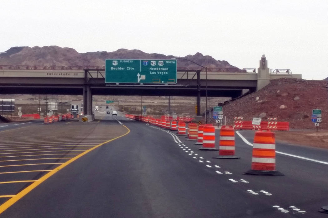 Celia Shortt Goodyear/Special to the Pahrump Valley Times Interstate 11 and U.S Highway 95 interchange near Boulder City. The Nevada Department of Transportation are planning to hold several publi ...