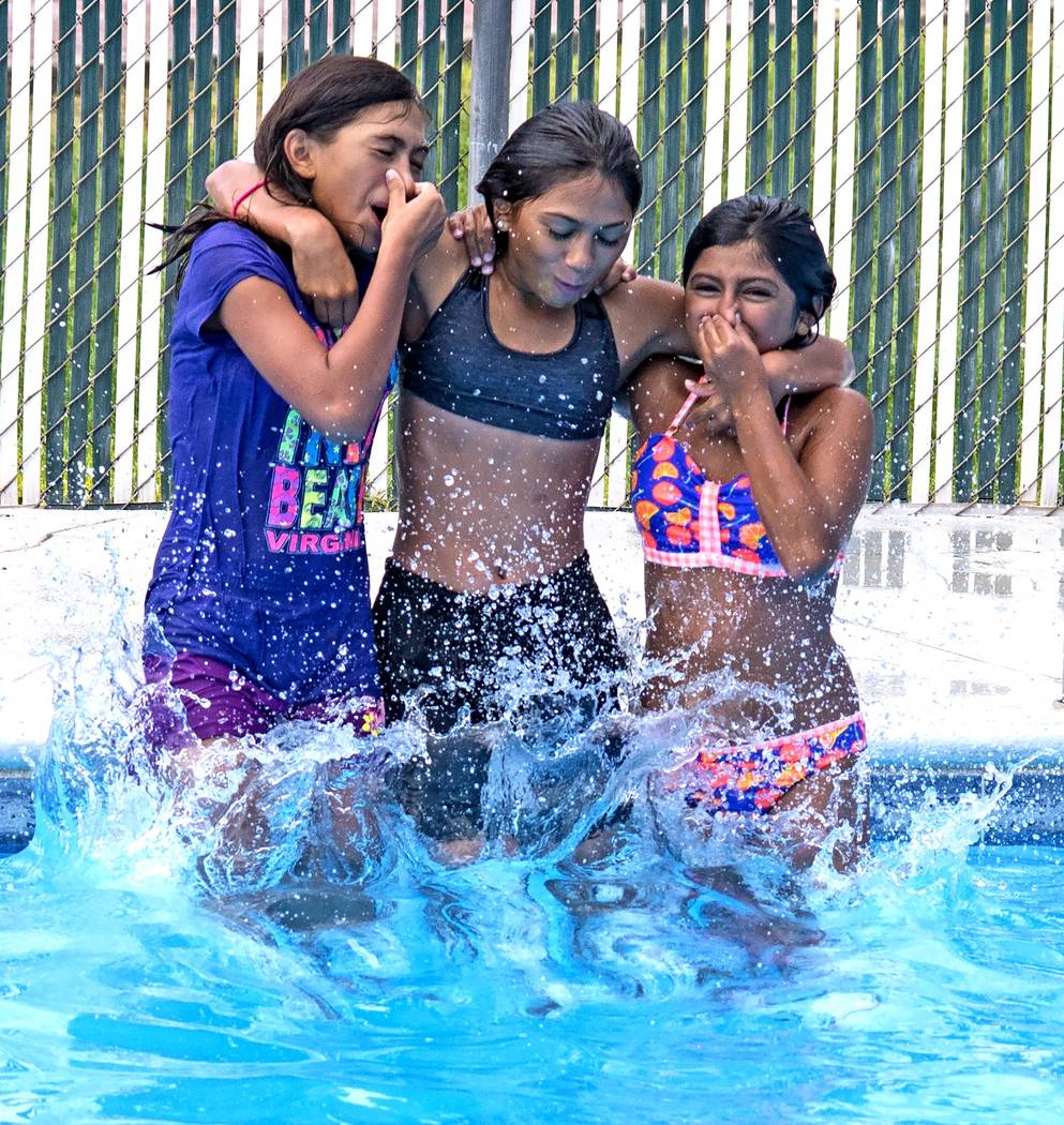 Richard Stephens/Special to the Pahrump Valley Times The pool, which has been closed for a few weeks, reopened Tuesday, July 10.