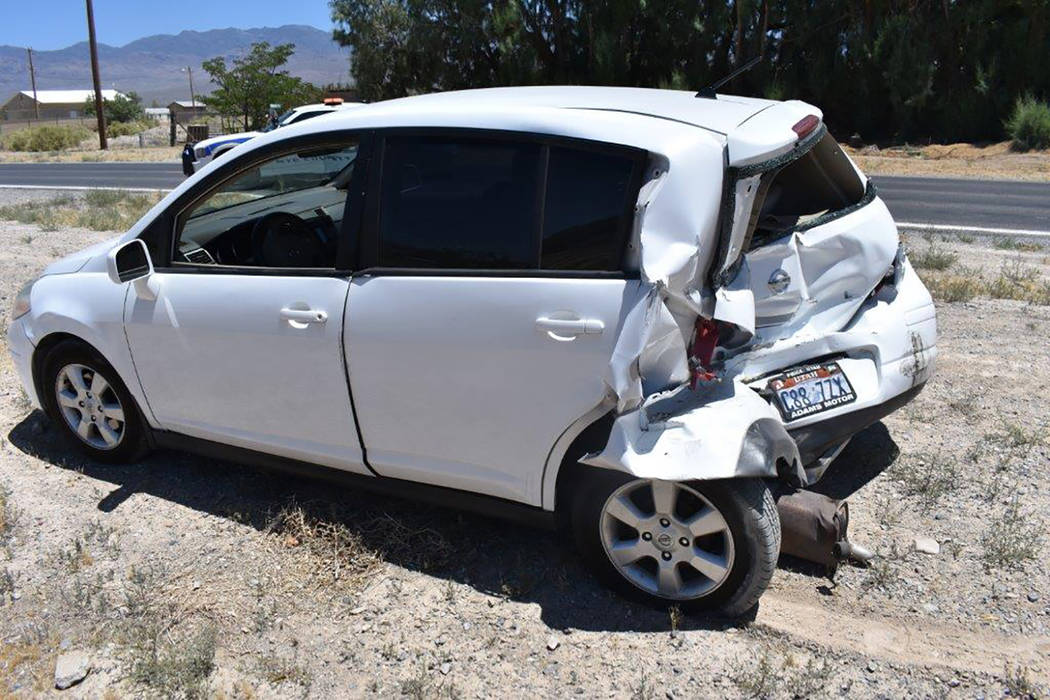 Special to the Pahrump Valley Times One person was transported to desert View Hospital following a two-vehicle rear-end collision at the intersection of Blosser Ranch Road and Blagg Road on July 1 ...