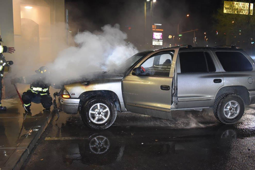 Special to the Pahrump Valley Times Mechanical failure was the cause of a vehicle fire in the parking lot of Walgreens just before 9:30 p.m. on Sunday July 1. Though the vehicle was in close proxi ...