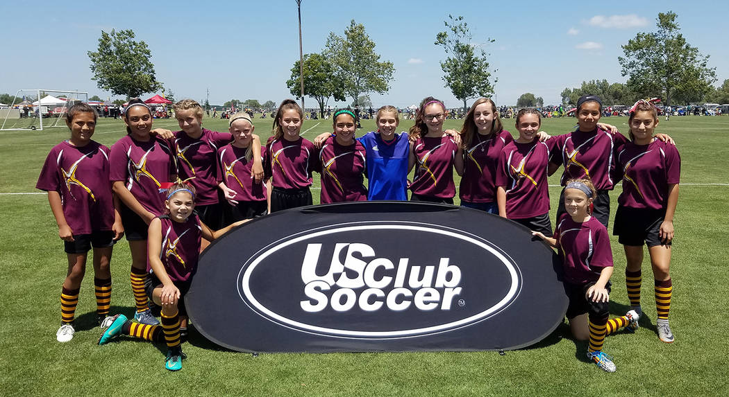 Danny Coleman/Special to the Pahrump Valley Times Pahrump 05 Trojans players placed second in Group A and third overall at the National Cup XVII West Regional in California.