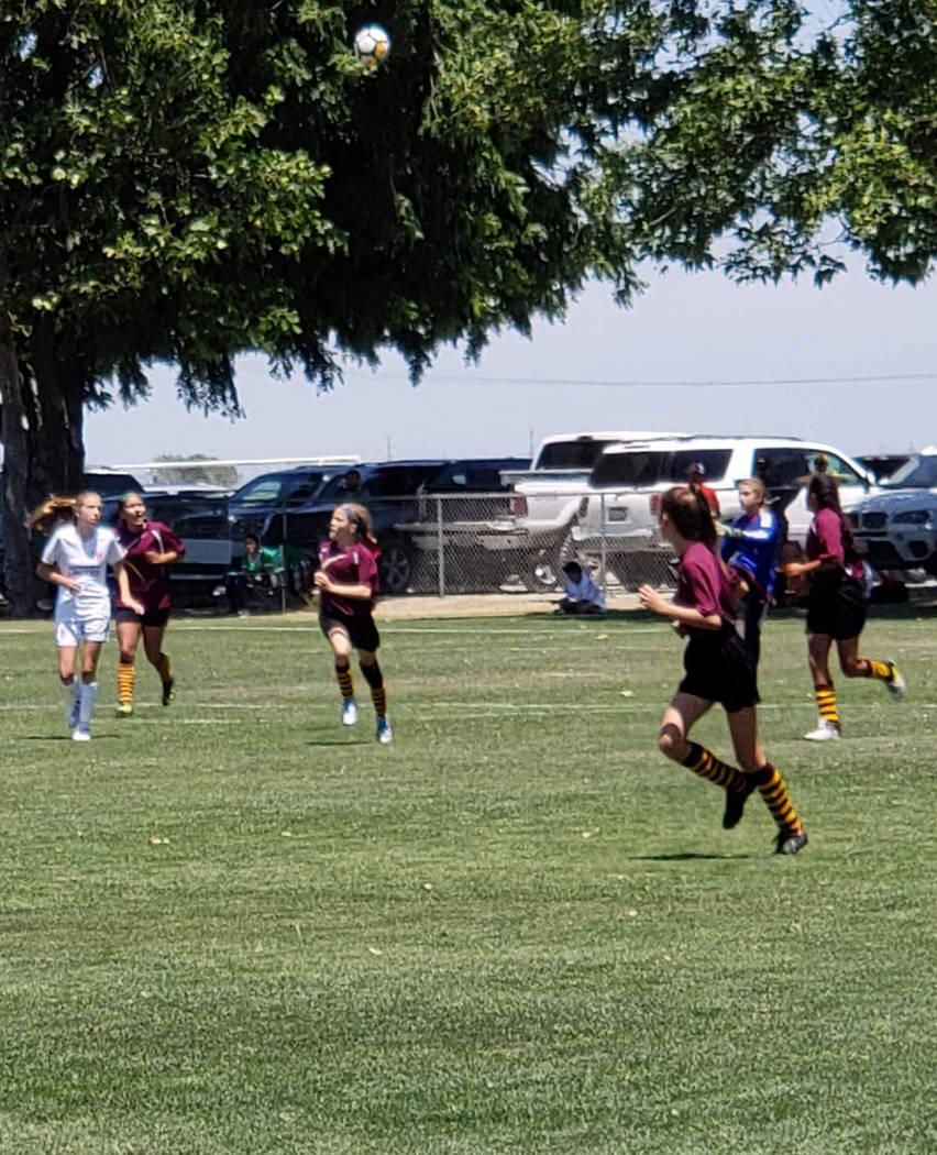 Danny Coleman/Special to the Pahrump Valley Times The Pahrump 05 Trojans won once, lost once and tied once during the National Cup XVII West Regional Tournament at Davis Legacy Soccer Complex near ...