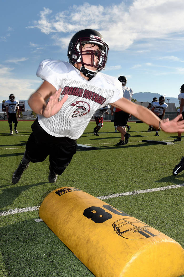 Peter Davis/Special to the Pahrump Valley Times Football players have been working out in the mornings this summer in preparation for the new season, which for Pahrump Valley High School begins Au ...