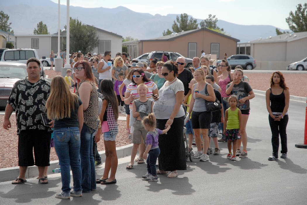 Horace Langford Jr. / Pahrump Valley Times - Parents and children often begin lining up for the annual Back to School Health Fair in advance of the start time, which is scheduled for 8 a.m. this S ...