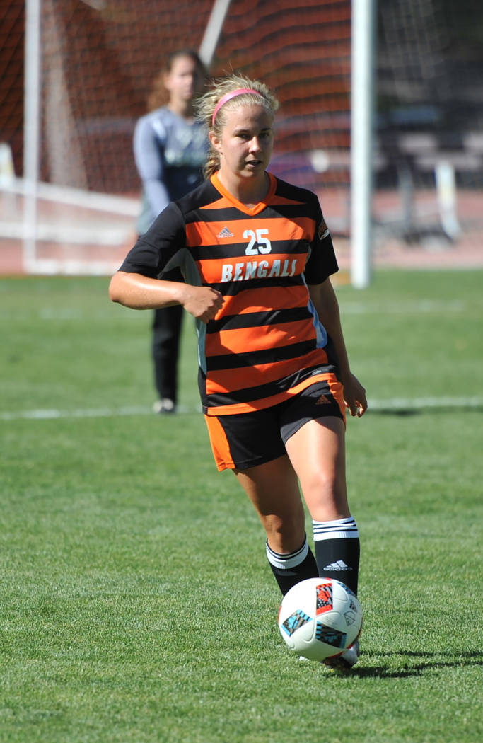 Julie Hillebrant-ISU Athletics/Special to the Pahrump Valley Times Jennifer McCaw started 49 games during her soccer career at Idaho State, including all 36 during her junior and senior years.
