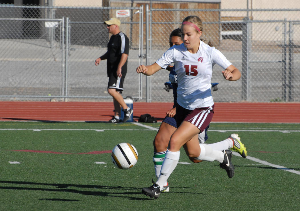 Horace Langford Jr./Pahrump Valley Times Jennifer McCaw was part of two state championship girls soccer teams while at Pahrump Valley High School and played on two other teams that qualified for t ...