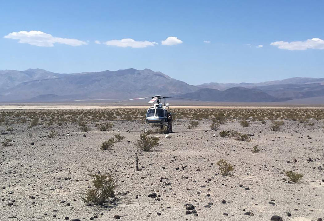Special to the Pahrump Valley Times An aerial search was needed to locate Huntington Beach, California resident Peter Rhoad, 57, who died after falling during a hike near Panamint Butte in Death V ...