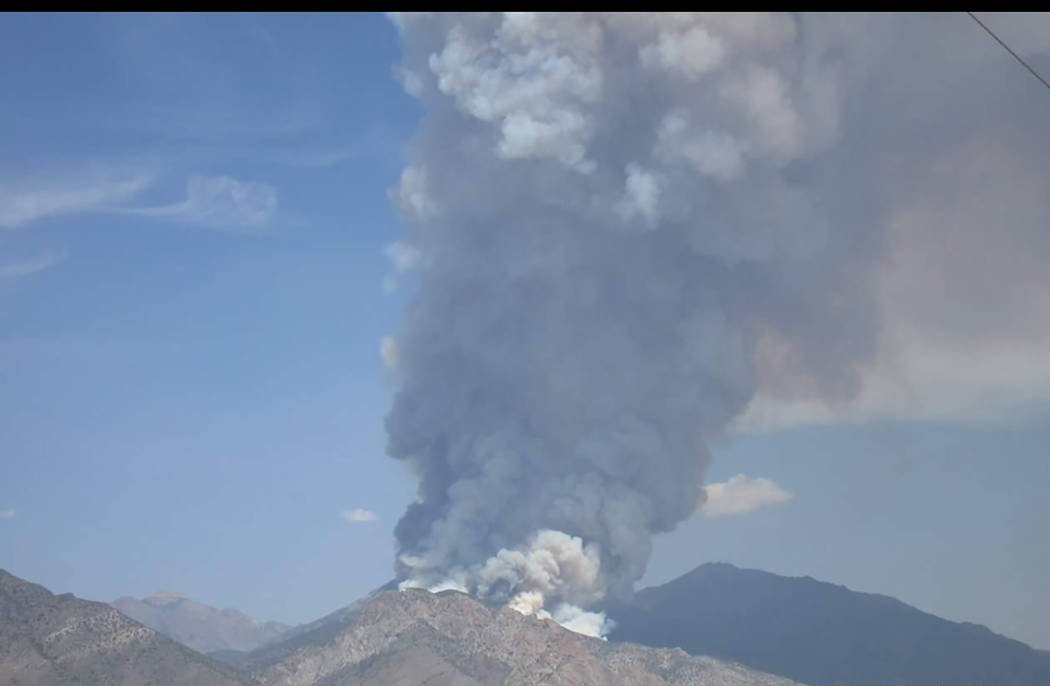 Evelyn Moyer/Special to the Times-Bonanza The Broad fire was started by lightning the afternoon of July 19, burning in brush and pinyon-juniper woodland.