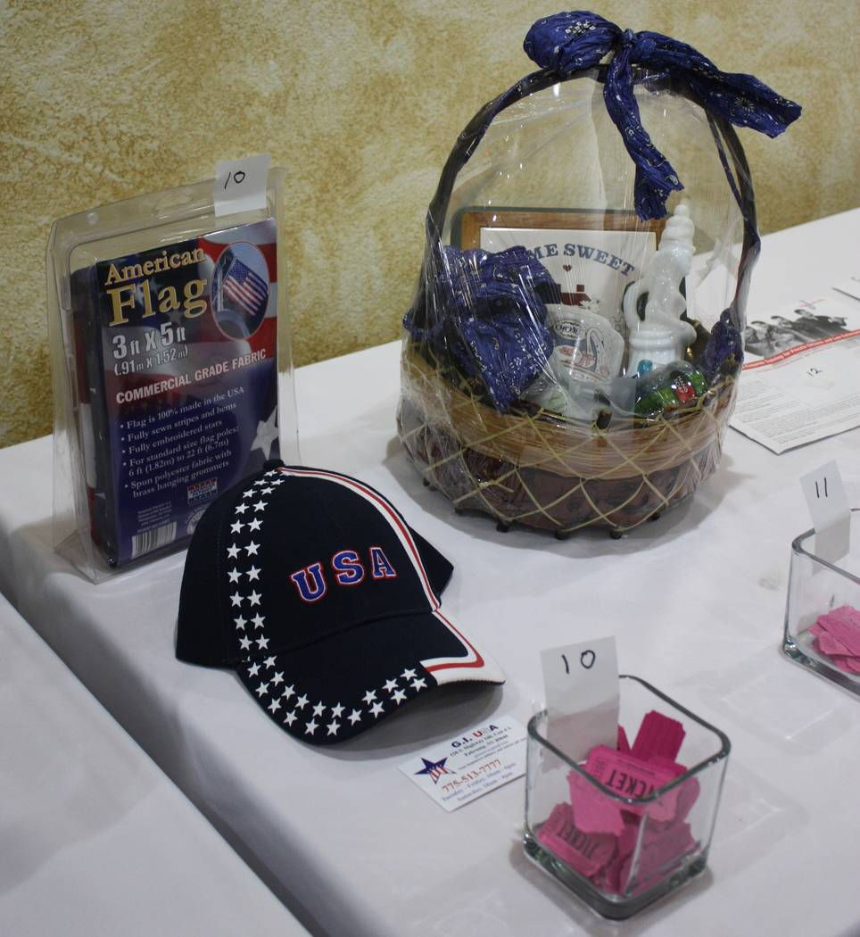 Robin Hebrock/Pahrump Valley Times American-themed items were a big draw for those hoping to snag a few of the many raffles prizes available.
