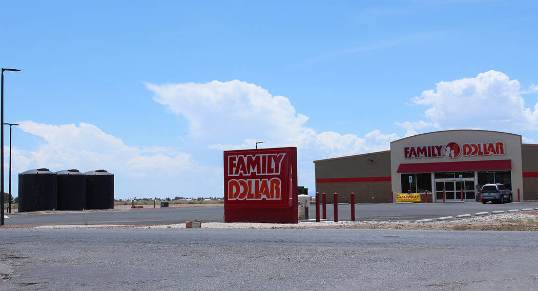 Jeffrey Meehan/Pahrump Valley Times The Family Dollar store at 2891 W. Charleston Park Ave. reopened July 24, 2018. The location was one of two that were ordered shut down by Nye County for not co ...