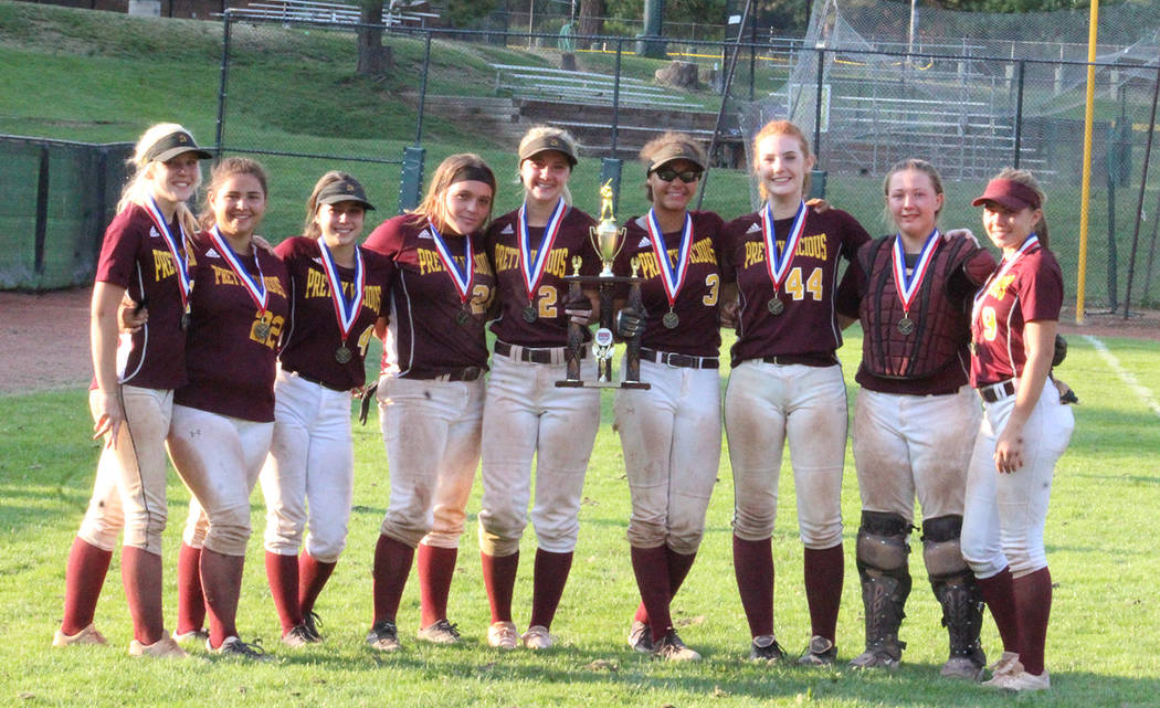 Cassondra Lauver/Special to the Pahrump Valley Times The nine remaining Pretty Vicious players at their final tournament together in July in Incline Village.