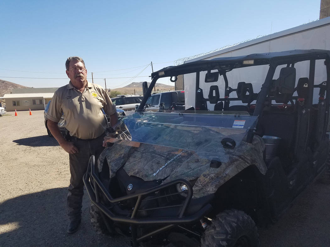 David Jacobs/Pahrump Valley Times Esmeralda County Sheriff Kenneth Elgan as shown in this Aug. 6 photo. Elgan won his sixth consecutive four-year term in June and has been with the office about 27 ...
