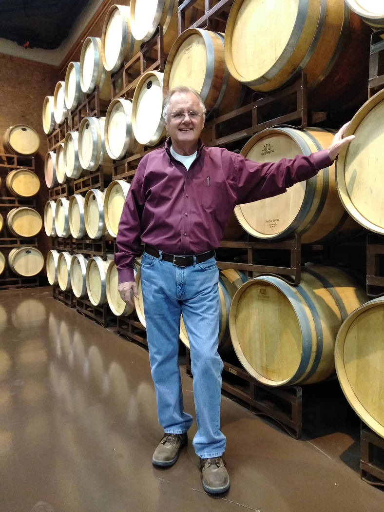 Selwyn Harris/Pahrump Valley Times Pahrump Valley Winery Owner Bill Loken stands in the newly completed cooling room capable of storing hundreds of oak barrels. The $1.7 million year-long expansio ...