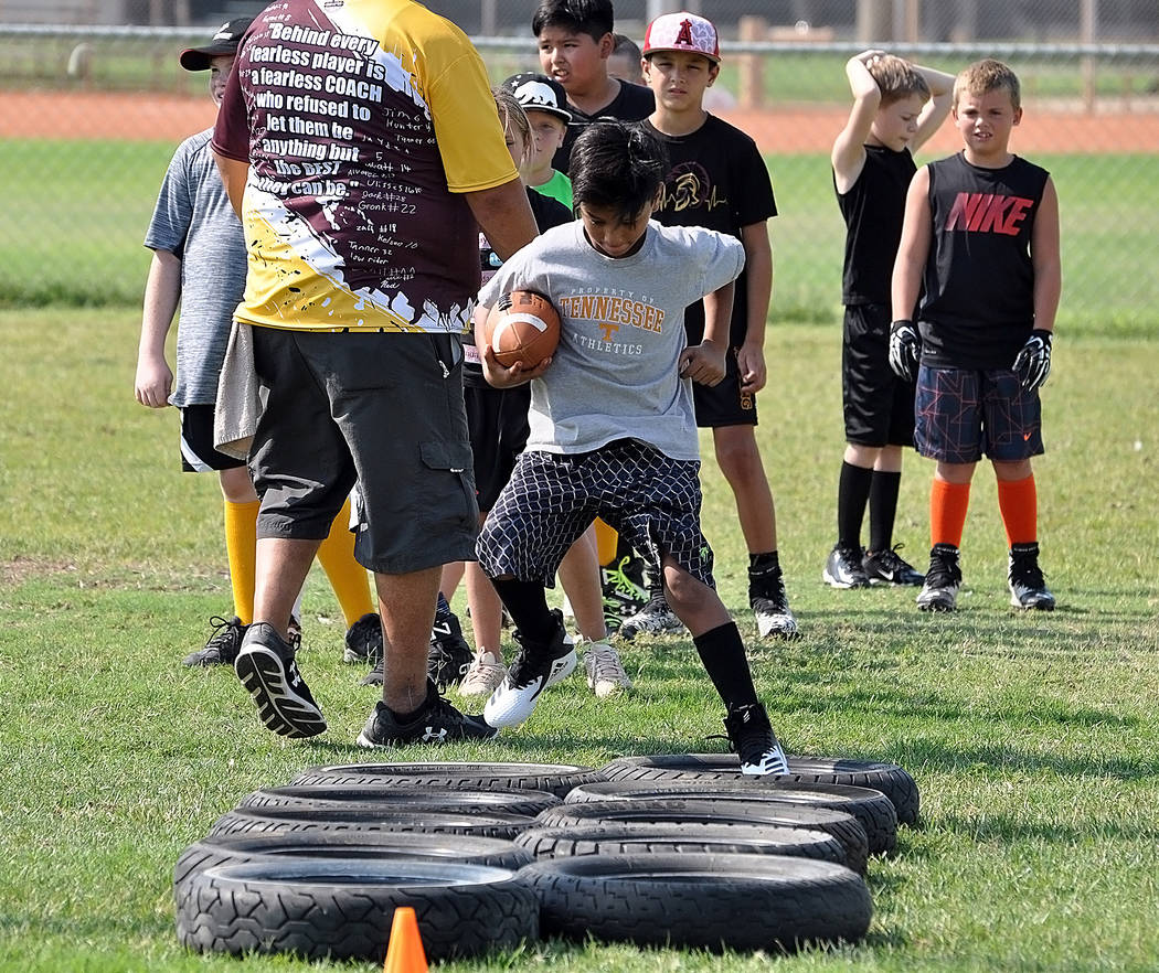 Horace Langford Jr./Pahrump Valley Times Games begin Sept. 1 for the young athletes eager to be part of the Pahrump Valley Junior Trojans 2018 season.