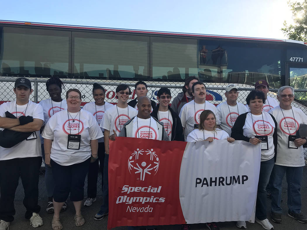 Bobbi-lee Ward/Special to the Pahrump Valley Times Pahrump Special Olympians traveled to Reno for the Special Olympics Nevada Summer Games.