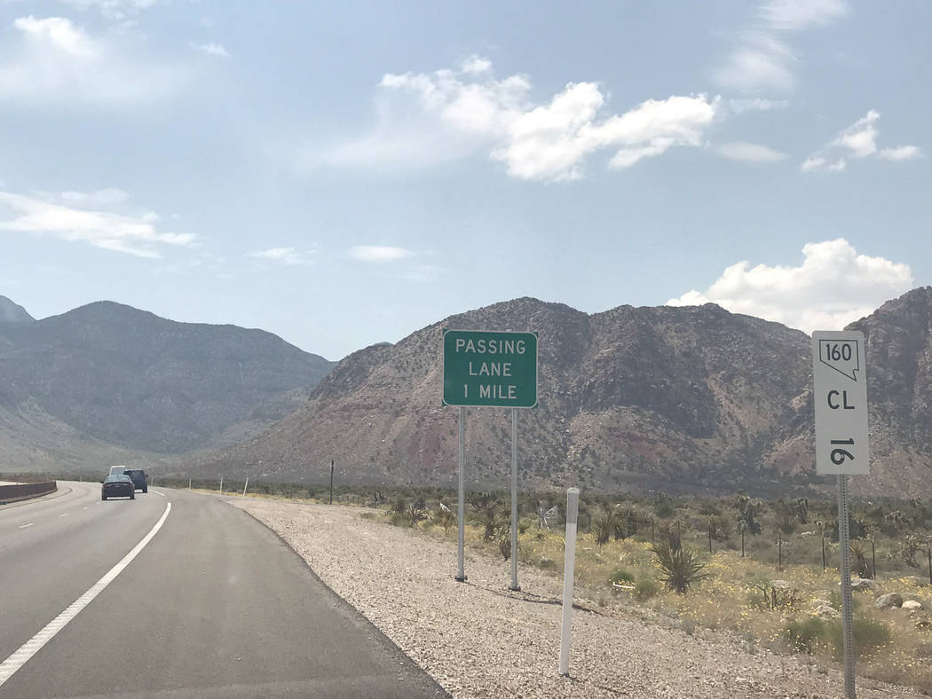 Jeffrey Meehan/Pahrump Valley Times The Nevada Department of Transportation is readying to begin work on widening Highway 160 in the fall of 2018. The $59 million project will start at mile marker ...