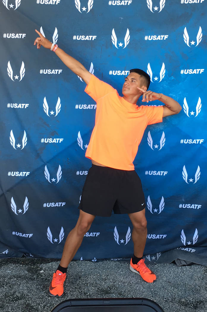 Alexis Arroyo/Special to the Pahrump Valley Times Jose Granados strikes a pose at the National Junior Olympic Championships in Greensboro, North Carolina. In his second time at nationals, Granados ...