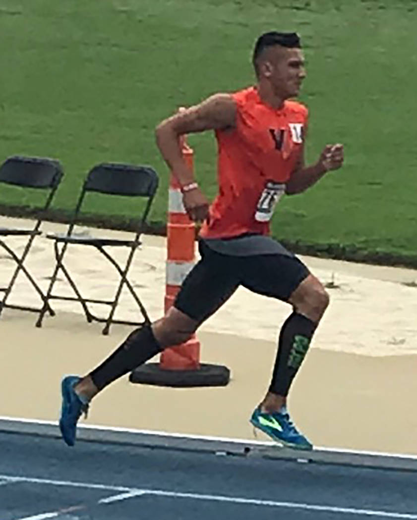 Amanda Granados/Special to the Pahrump Valley Times Jose Granados set a personal record in the 1,500 meters at the National Junior Olympic Championships in Greensboro, North Carolina. The Amargosa ...